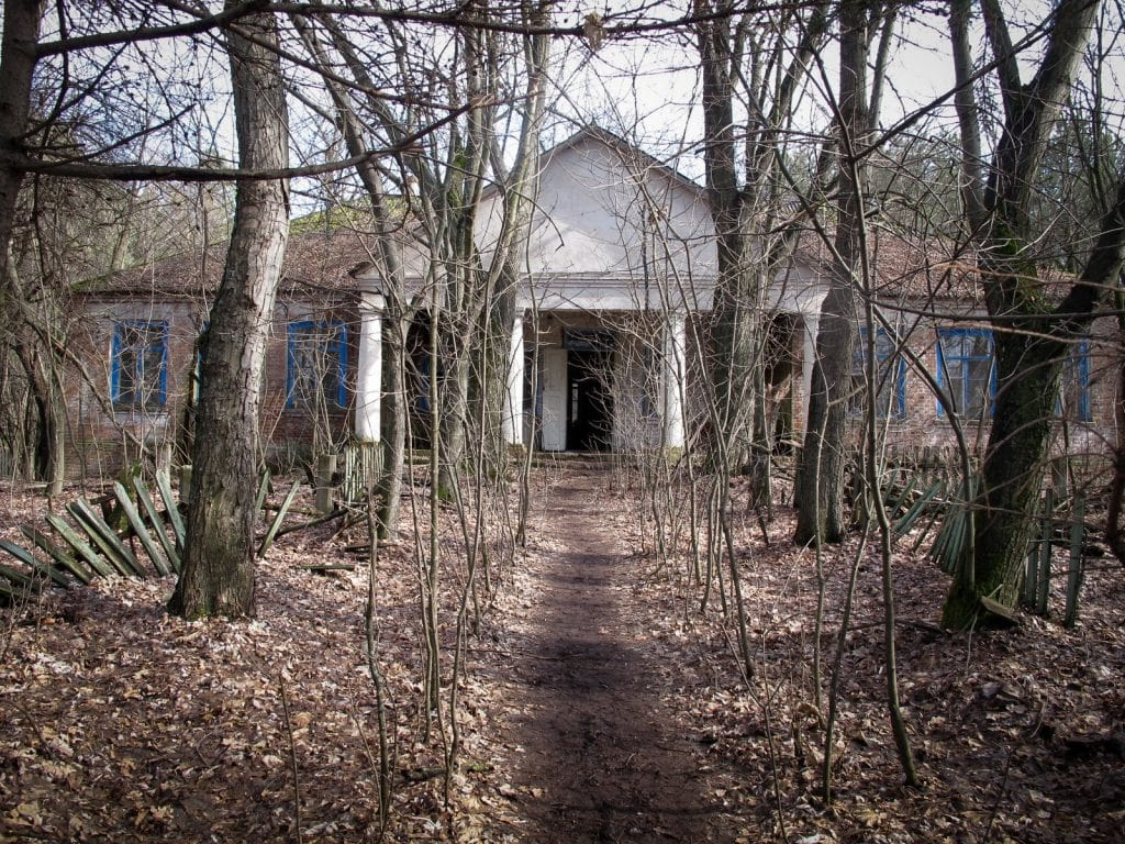 Visiting the Chernobyl Exclusion Zone; abandoned school in Chernobyl, Ukraine