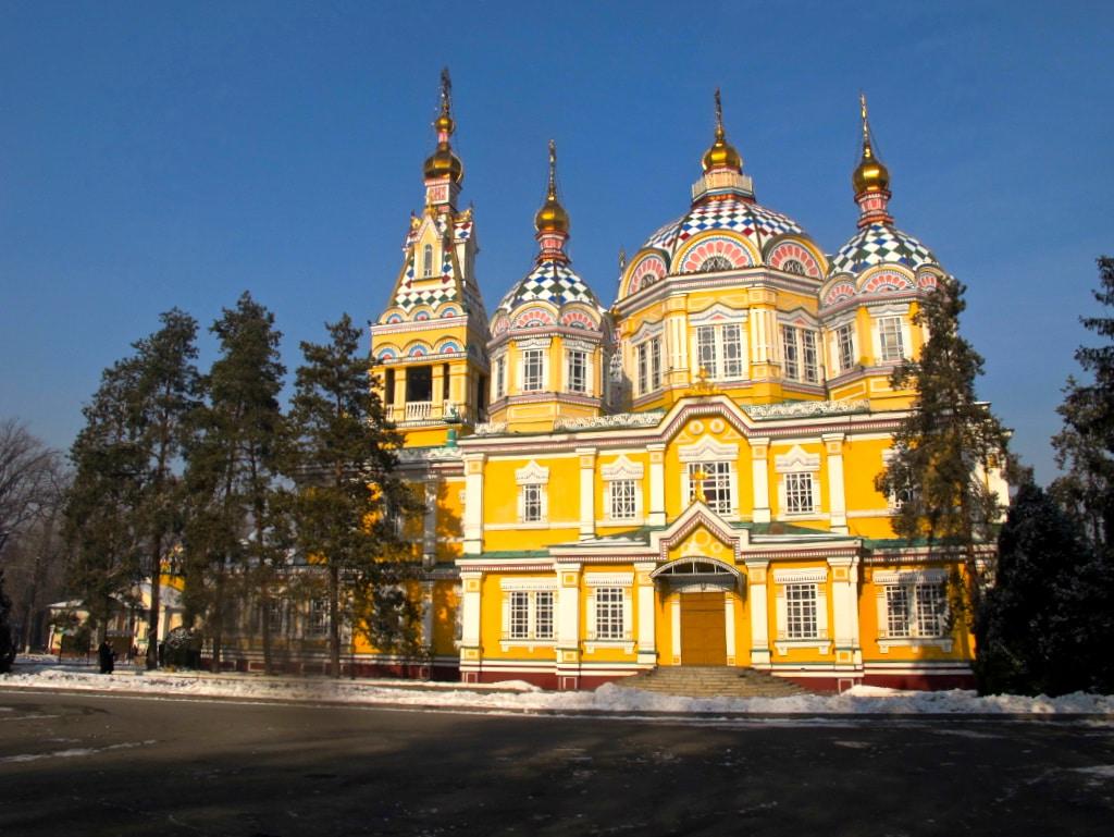 Almaty, Kazakhstan panfilov park church wooden