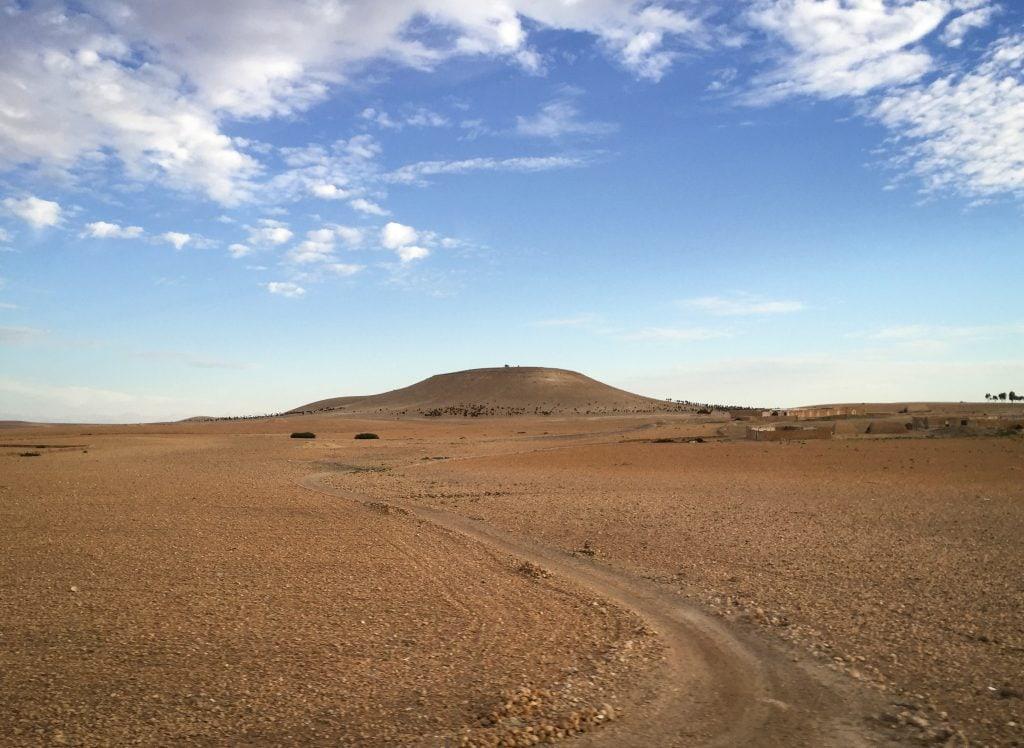 The road to Essaouira, Morocco