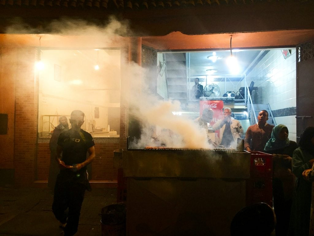 Night food in Marrakech, Morocco