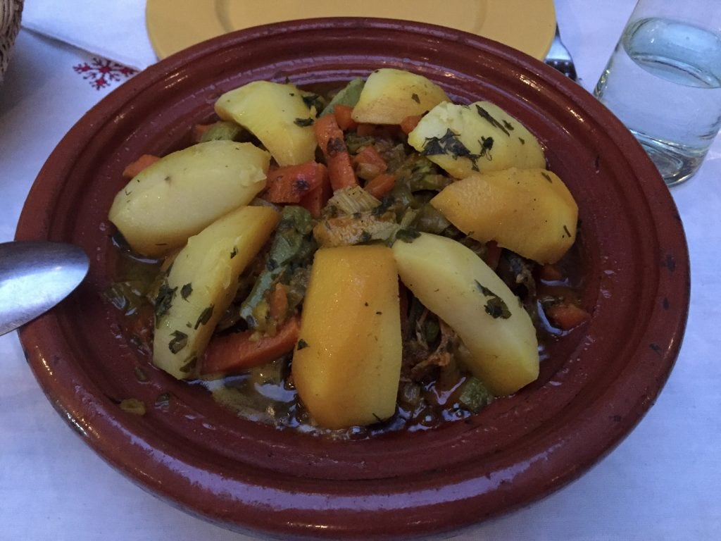 Tagine dinner at Riad Dar Nimbus in Marrakech, Morocco