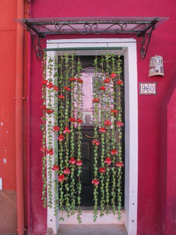 Door in Burano, Italy
