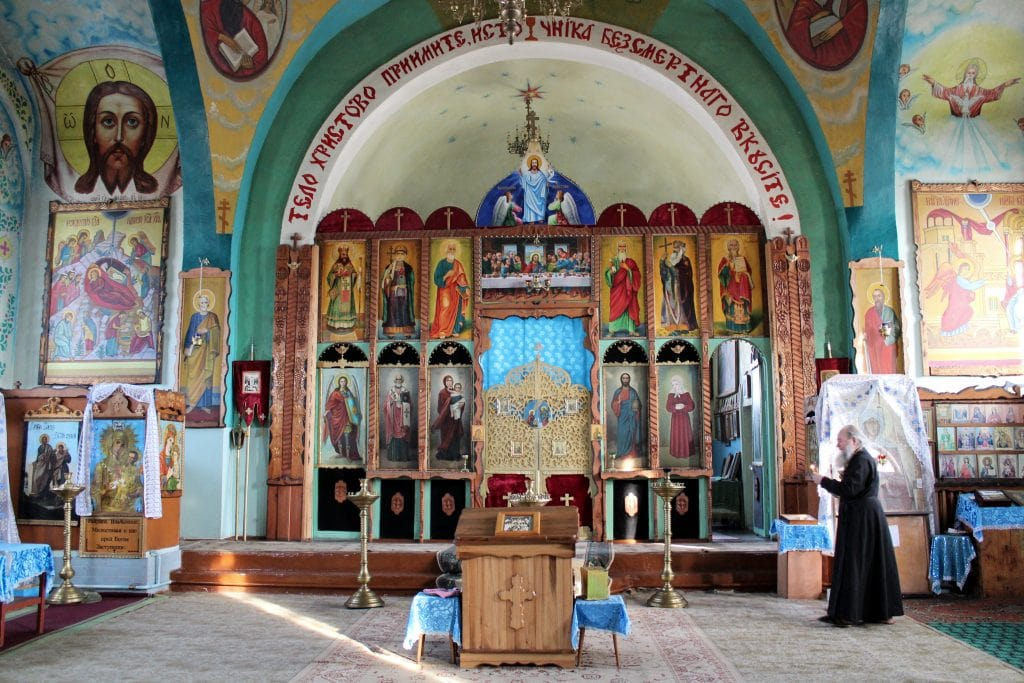Russian Orthodox church in Balykchy, Kyrgyzstan
