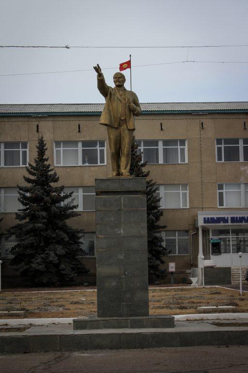 Lenin statue in Balykchy, Kyrgyzstan