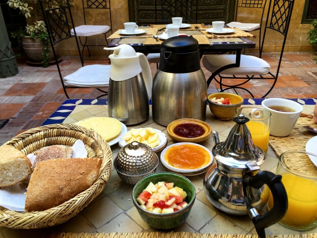 Breakfast and Juice in Marrakech, Morocco