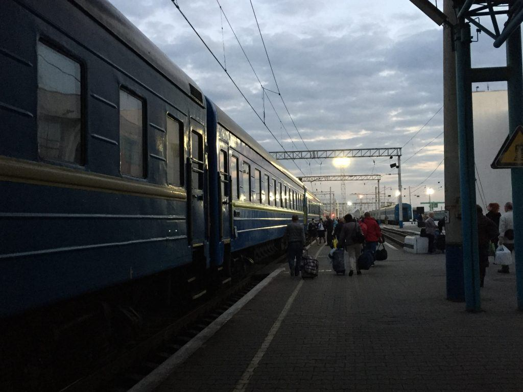 Train to Kiev from Zaporozhye