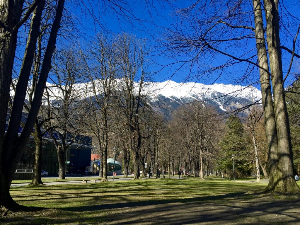 Park in Innsbruck, Austria