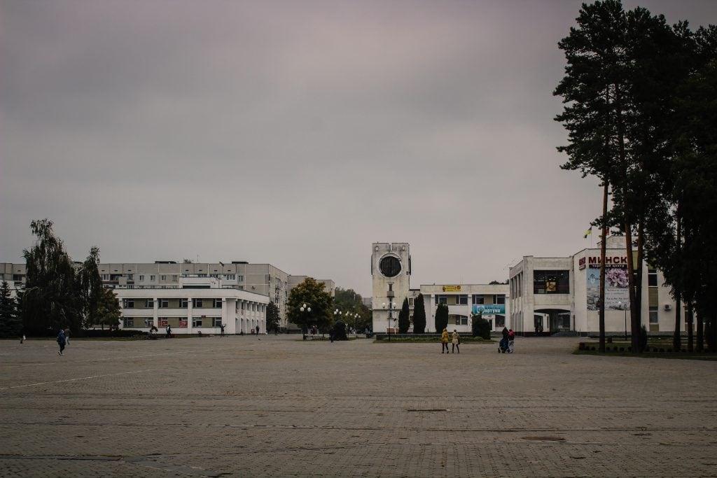 Slavutych, Ukraine main square