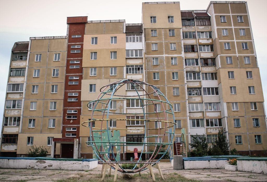Housing block in Slavutych, Ukraine