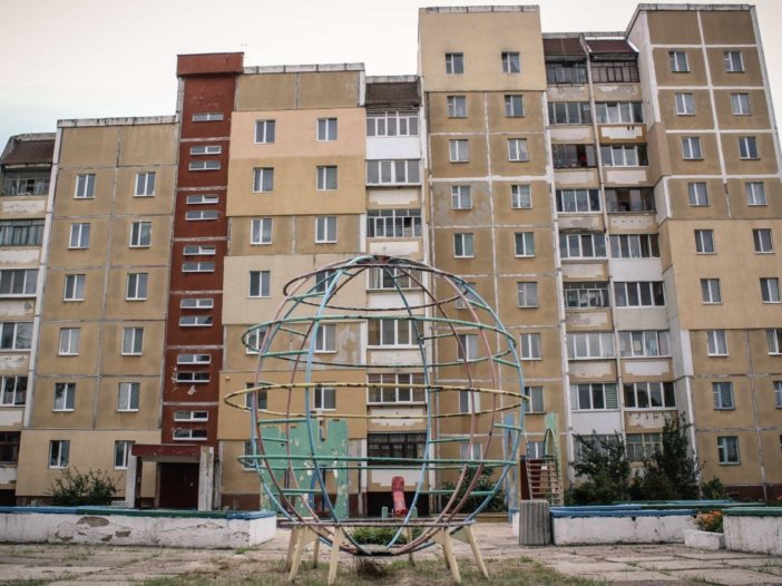 Housing block in Slavutych, Ukraine