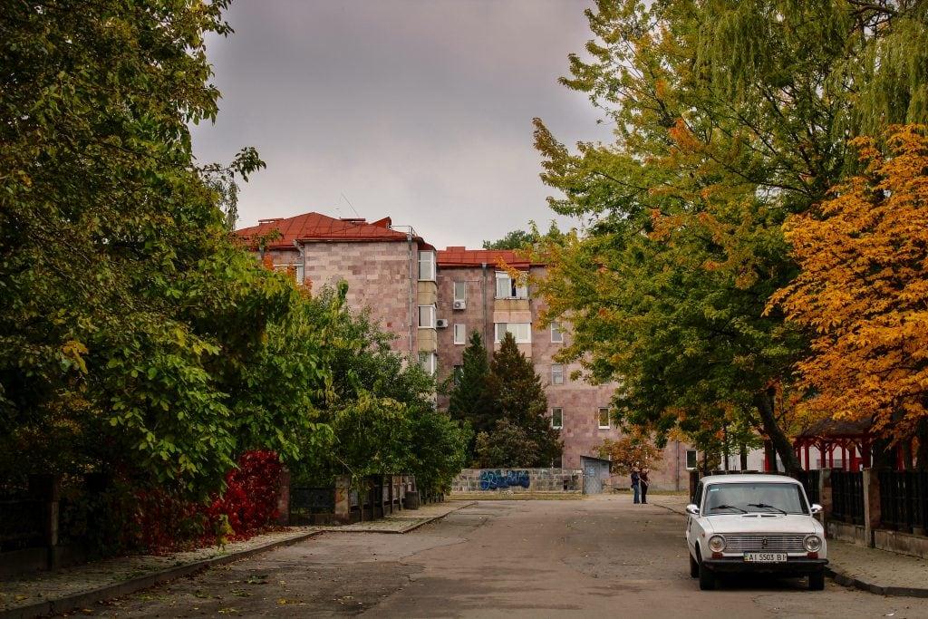 Yerevan quarter in Slavutych, Ukraine