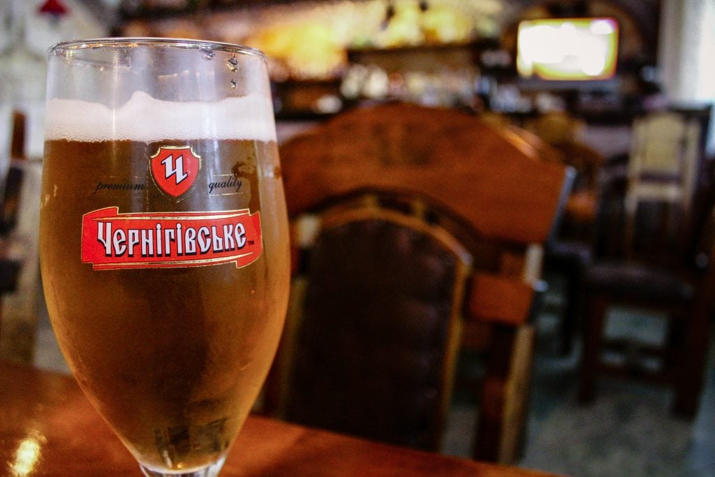 Beer at Tallinn Restaurant in Slavutych, Ukraine