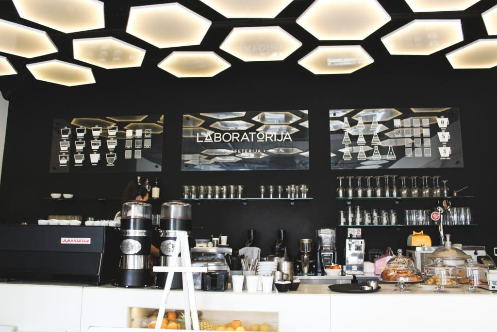 Laboratorija Cafe in New Belgrade, Serbia