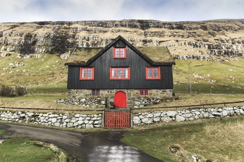 House in Kirkjubour Faroe Islands