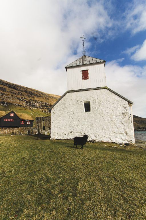St. Olav's Church in Kirkjubøur, Faroe Islands