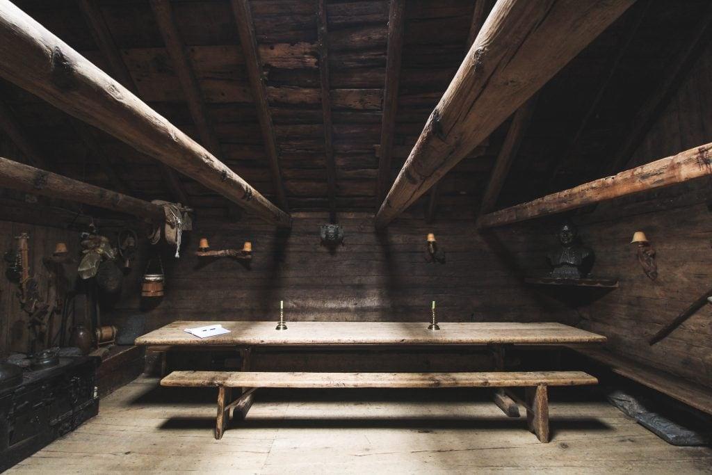 Inside Kirkjubøargarður