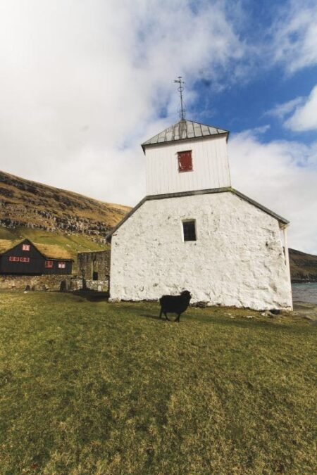 Kirkjubour Faroe Islands St. Olav's Church