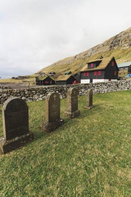 Kirkjubour Faroe Islands St. Olav's Church Graveyard