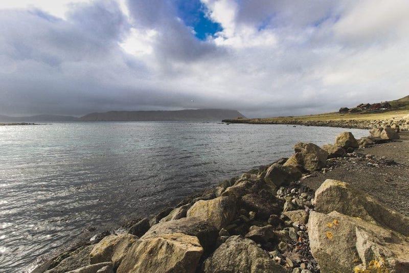 Sea views at Kirkjubour on Streymoy Faroe Islands