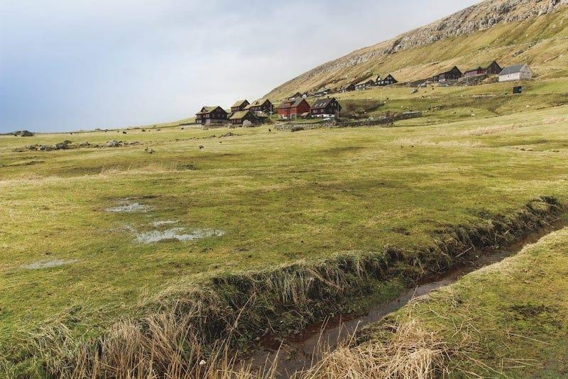 Views of Kirkjubour Faroe Islands