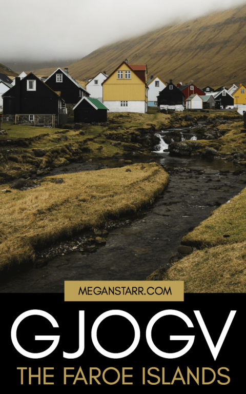 Travel to Gjogv on Eysturoy in the Faroe Islands and you will see rugged and wild scenery as you sit below the tallest mountain in the Faroes.