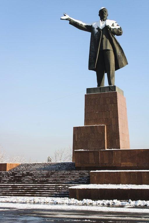Lenin statue in Osh, Kyrgyzstan