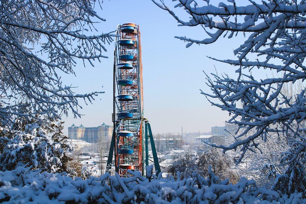 Ferris wheel in Osh, Kyrgyzstan