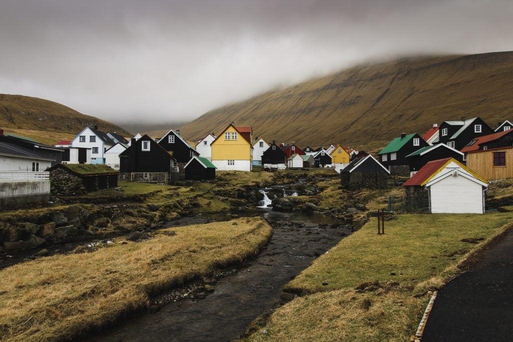 Gjógv on Eysturoy in the Faroe Islands