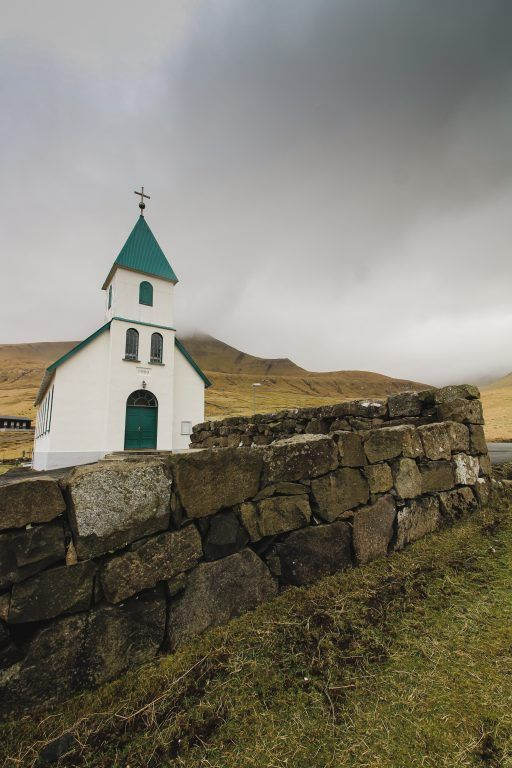 Church in Gjogv, Faroe Islands
