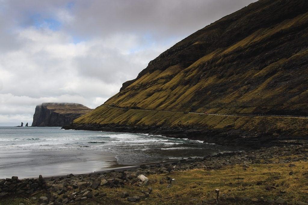 View of Risin and Kellingin from Tjørnuvik in the Faroe Islands