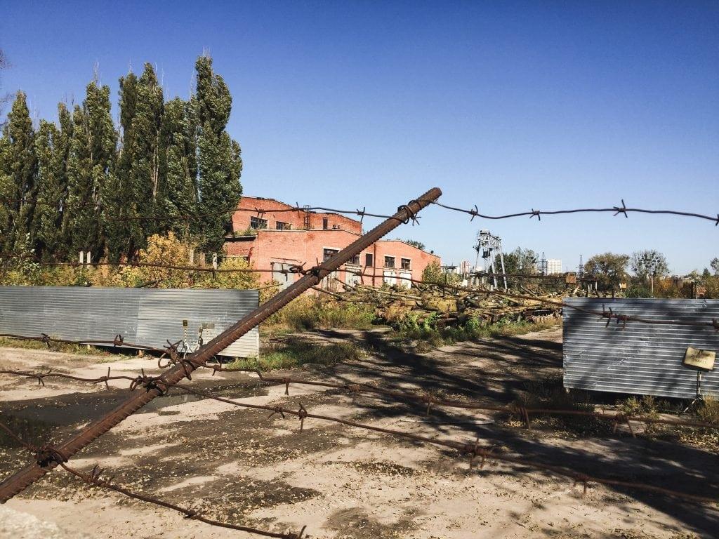 Soviet tank graveyard in Kharkiv, Ukraine