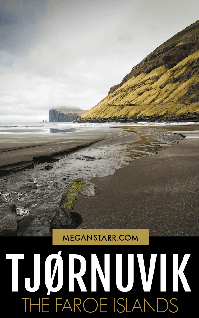 Tjørnuvik is situated at the northernmost tip of Streymoy in the Faroe Islands.  This surf paradise is a dream for those who love black sand beaches.
