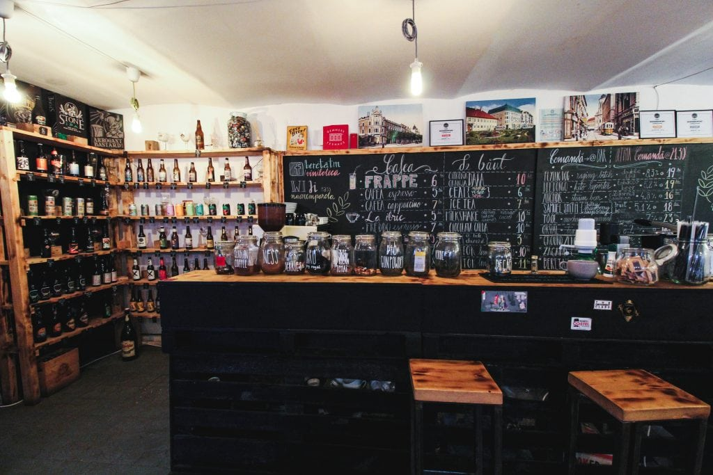 Viniloteca craft beer, vinyl, and coffee bar in Timisoara, Romania