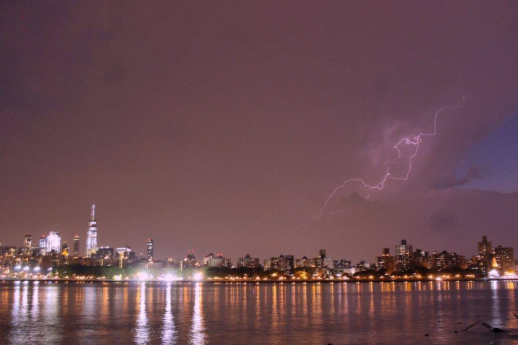 Lightning over Manhattan