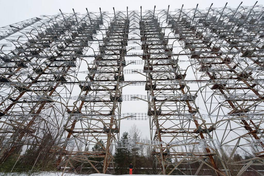 DUGA or the Russian Woodpecker in the Chernobyl Exclusion Zone in Ukraine