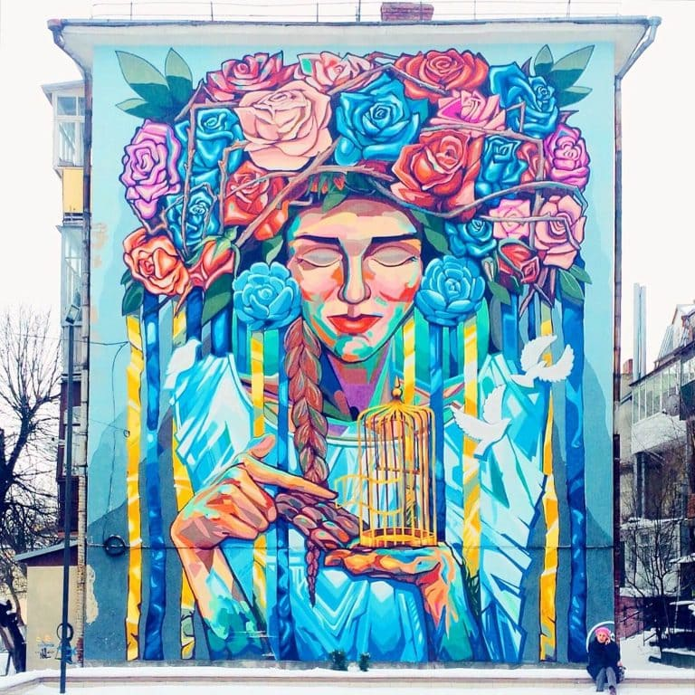 Street art in Lutsk, Ukraine
