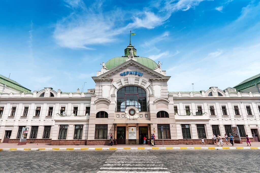 Chernivtsi, Ukraine railway station