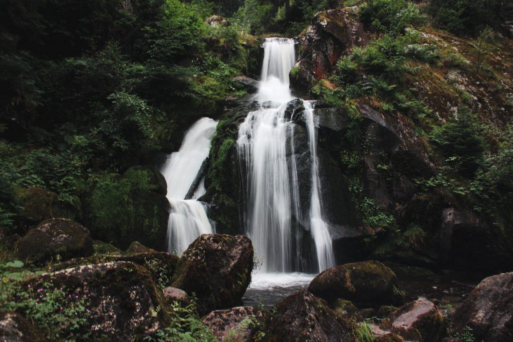 The highest waterfall in Germany in Triberg in the Black Forest