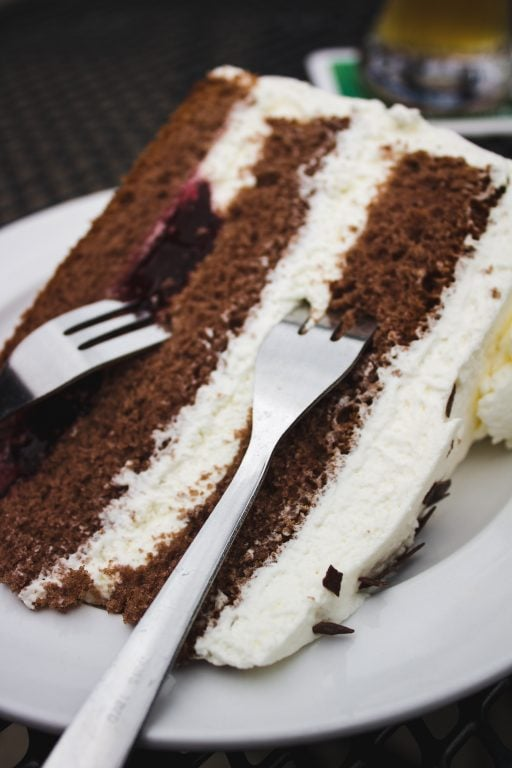 black forest cake in triberg, germany