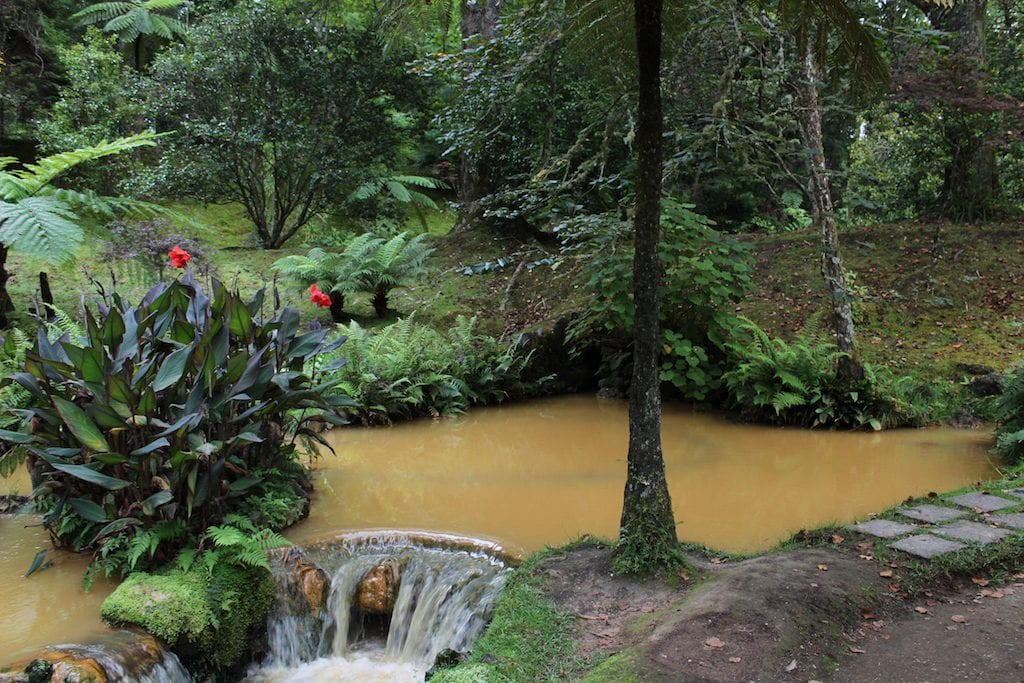 Sao Miguel hot springs in the Azores