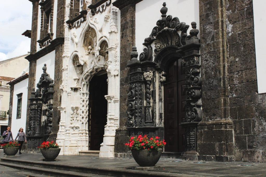 Ponta Delgada church on Sao Miguel, Azores