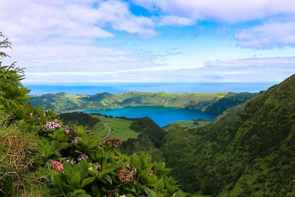 Sao Miguel, Azores from above