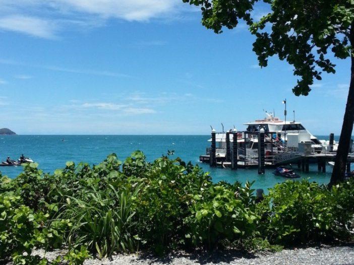 Fitzroy Island boat and beach