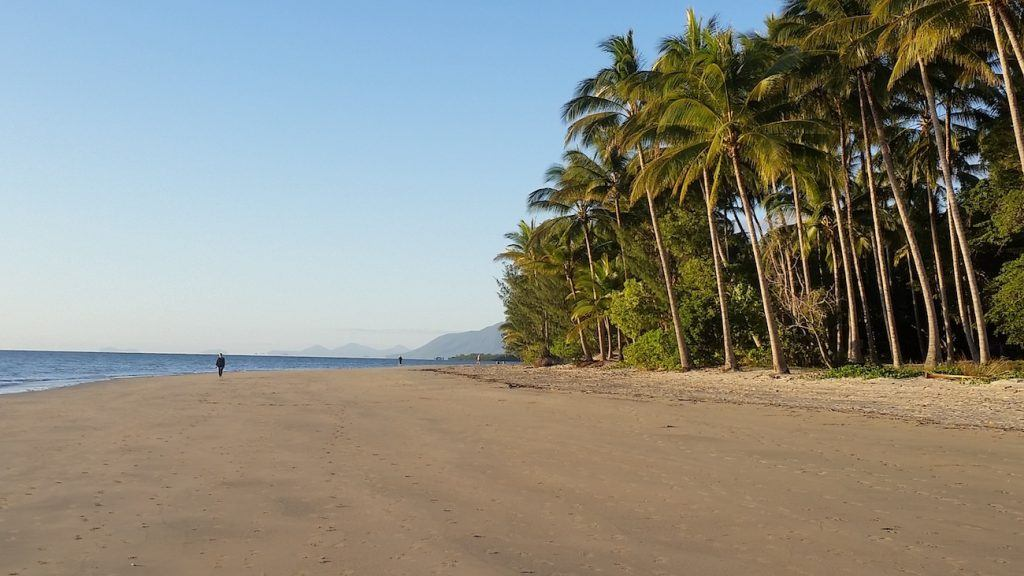Five mile beach in north queensland