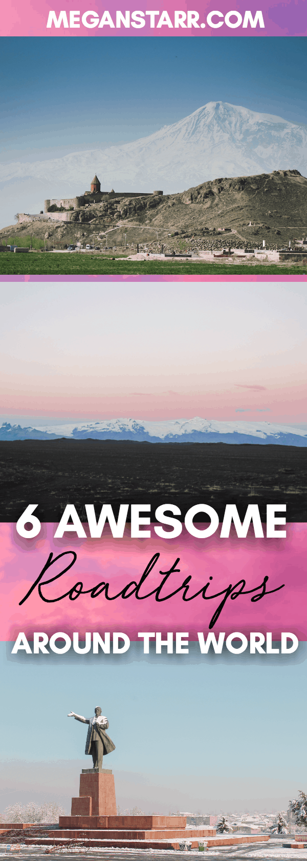 I have been on so many great road trips around the world but there are 6 that are my absolute favorites. This post is about my 6 favorite road trips.  Click to see which ones made the cut!  #roadtrip