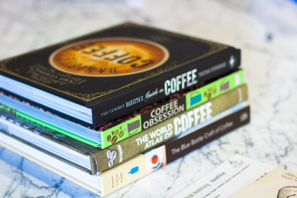 Coffee books at Drekka in Sofia, Bulgaria