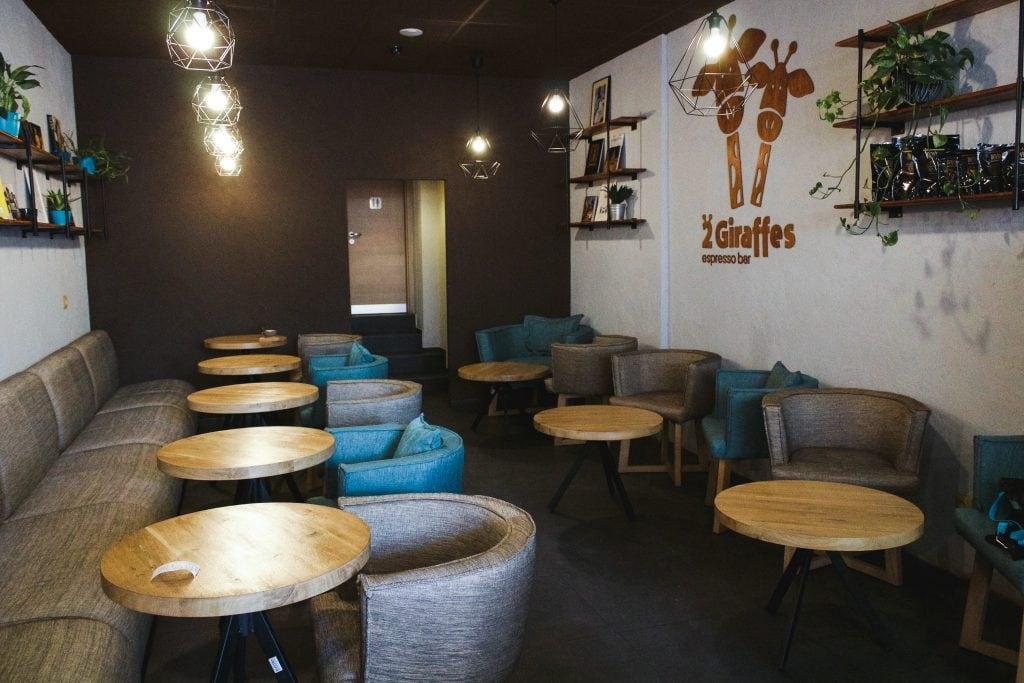 2 Giraffes Espresso Bar in Sofia, Bulgaria