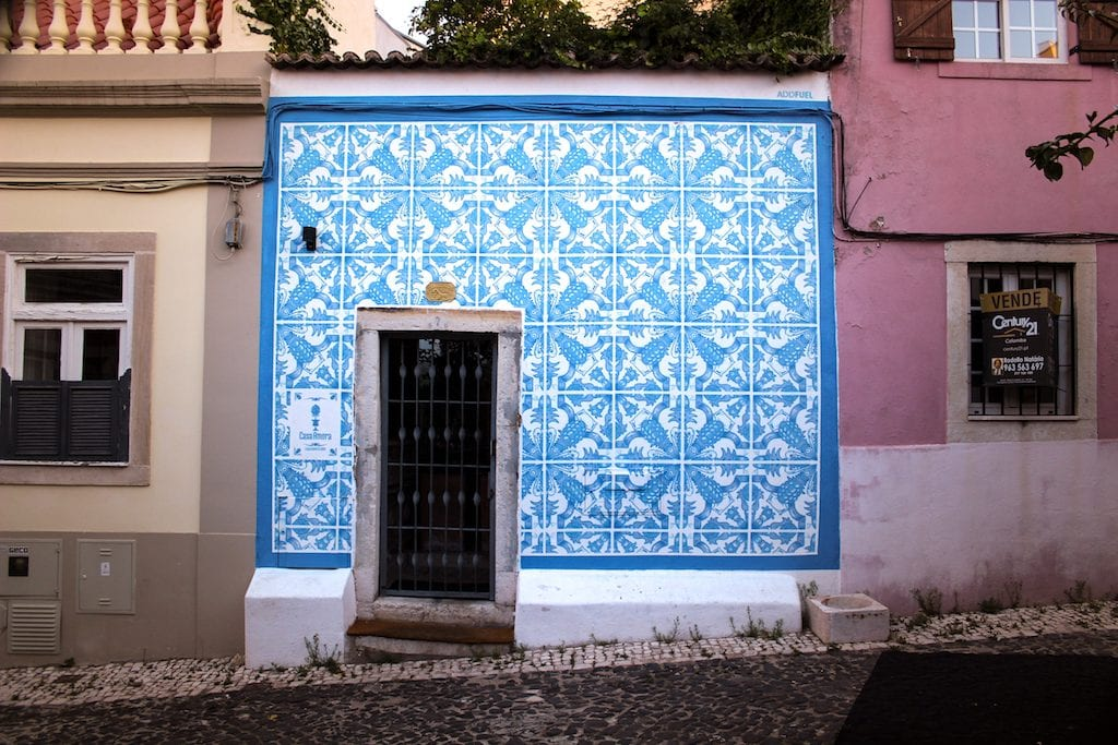 The Mural by Add Fuel in Lisbon, Portugal at Casa Amora