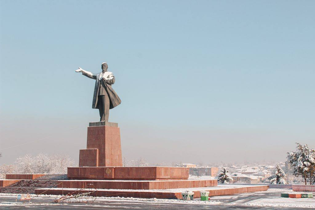 Statue of Lenin in Osh, Kyrgyzstan