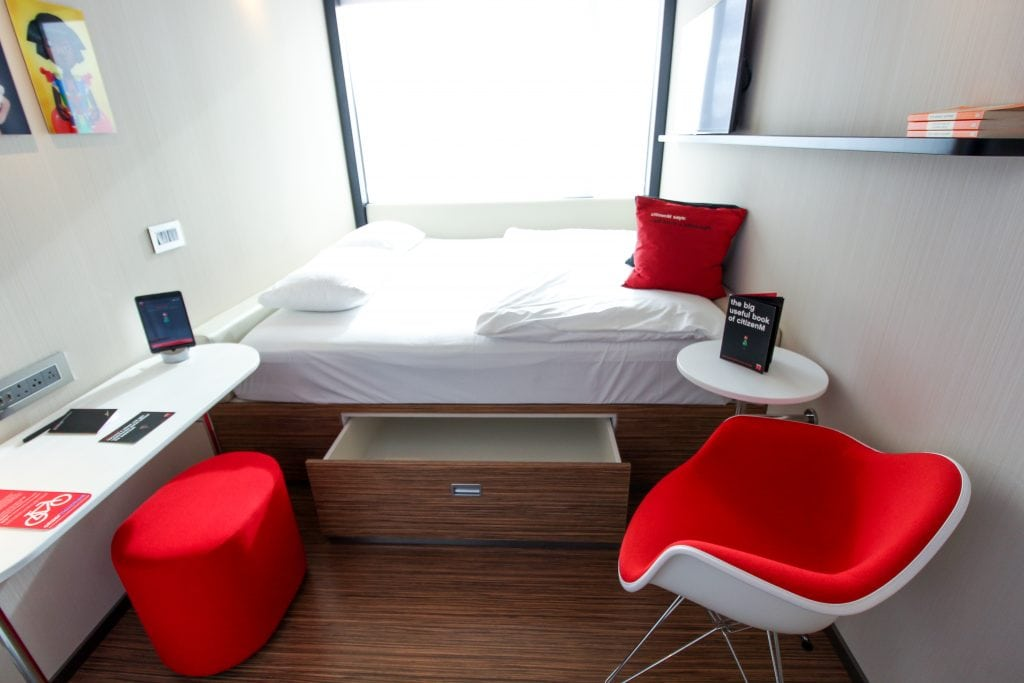 citizenM Tower of London hotel room